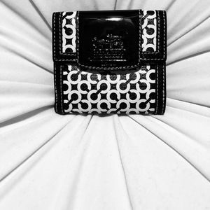 Black and white Coach wallet